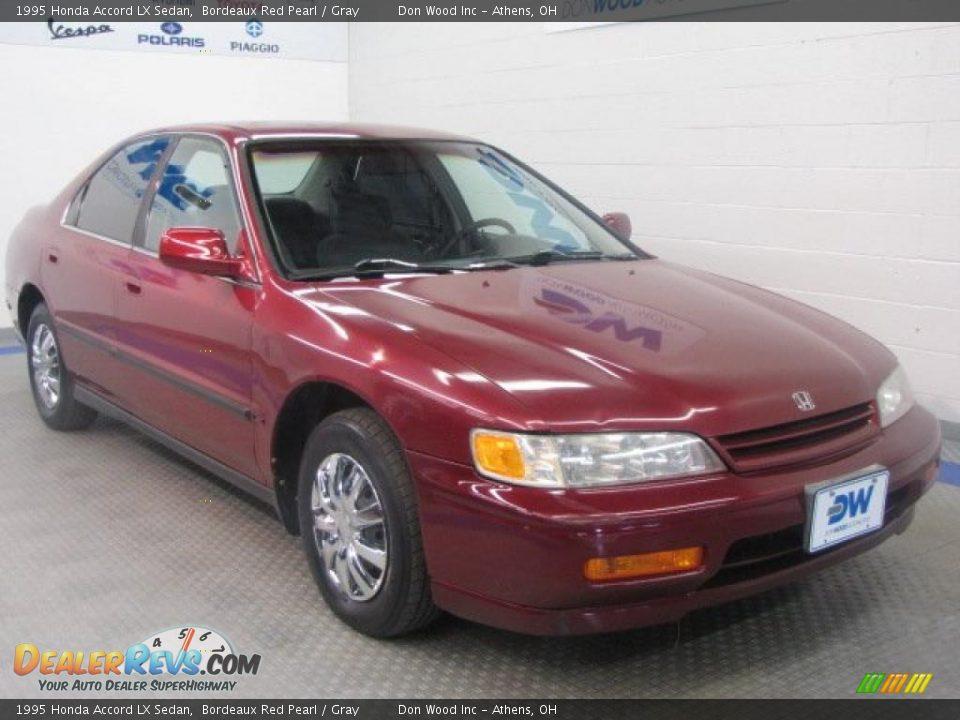 1995 Honda Accord Lx Sedan Bordeaux Red Pearl Gray Photo