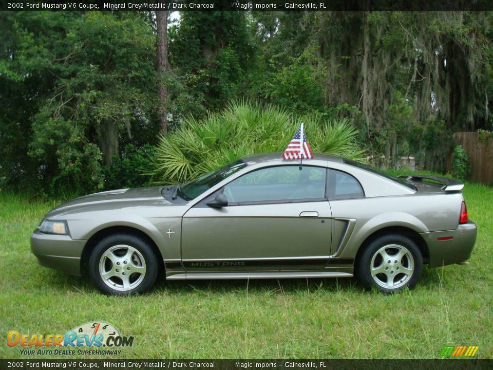 2002 Ford Mustang V6 Coupe Mineral Grey Metallic / Dark Charcoal Photo ...