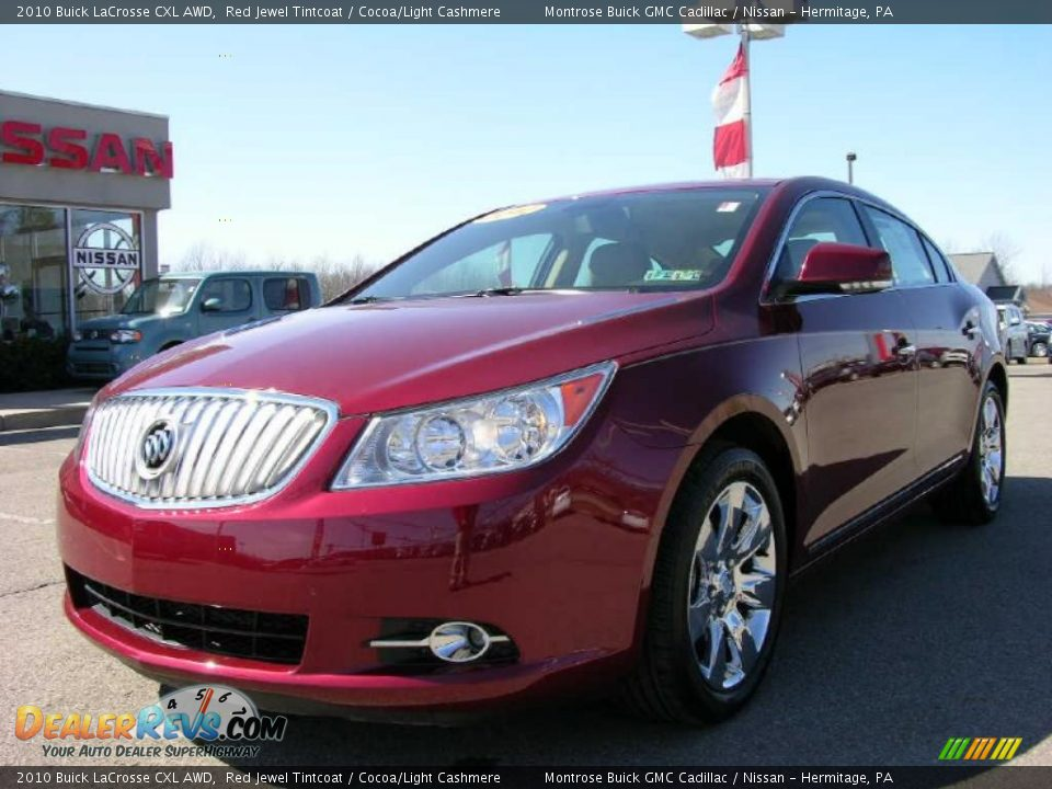 2010 buick lacrosse cxl awd red jewel tintcoat cocoa light cashmere photo 1. Black Bedroom Furniture Sets. Home Design Ideas