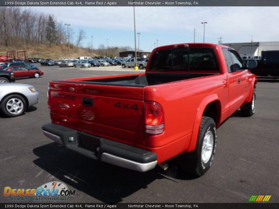 1999 Dodge Dakota Sport Extended Cab 4x4 Flame Red Agate