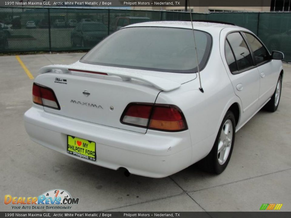 1998 Nissan Maxima GLE Arctic White Pearl Metallic / Beige Photo #3 ...