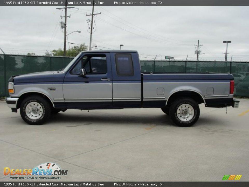 1995 ford f150 xlt extended cab medium lapis metallic blue photo 6. Black Bedroom Furniture Sets. Home Design Ideas