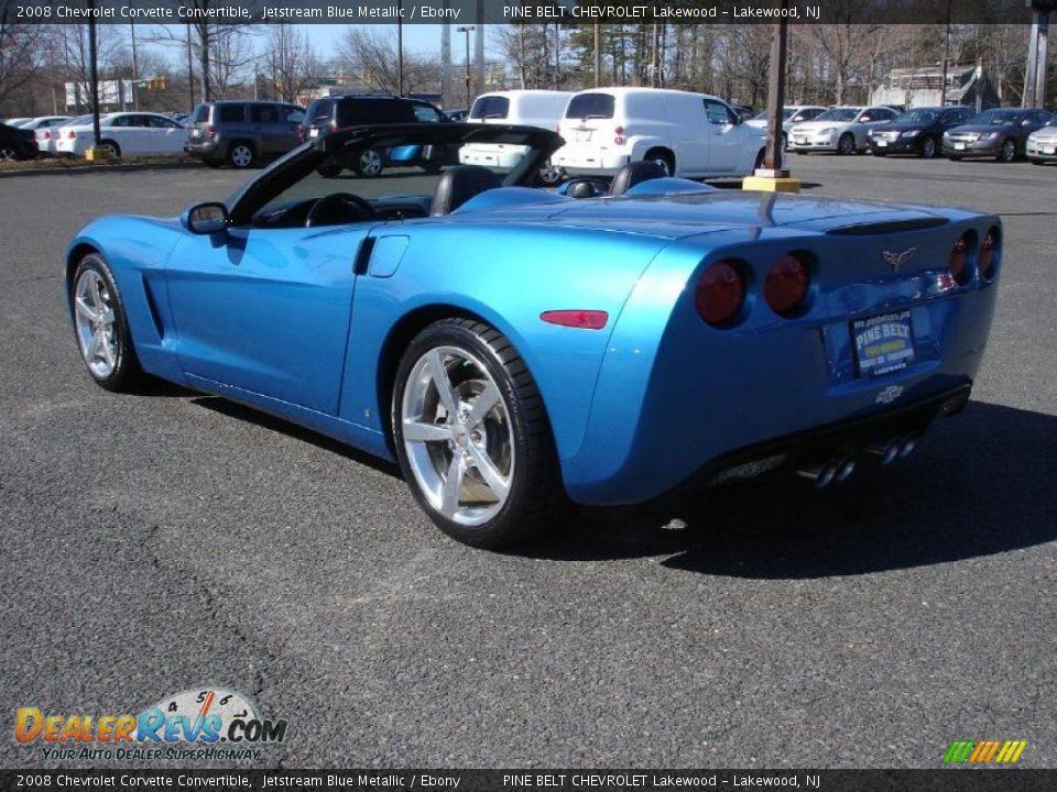2008 Chevrolet Corvette Convertible Jetstream Blue Metallic Ebony