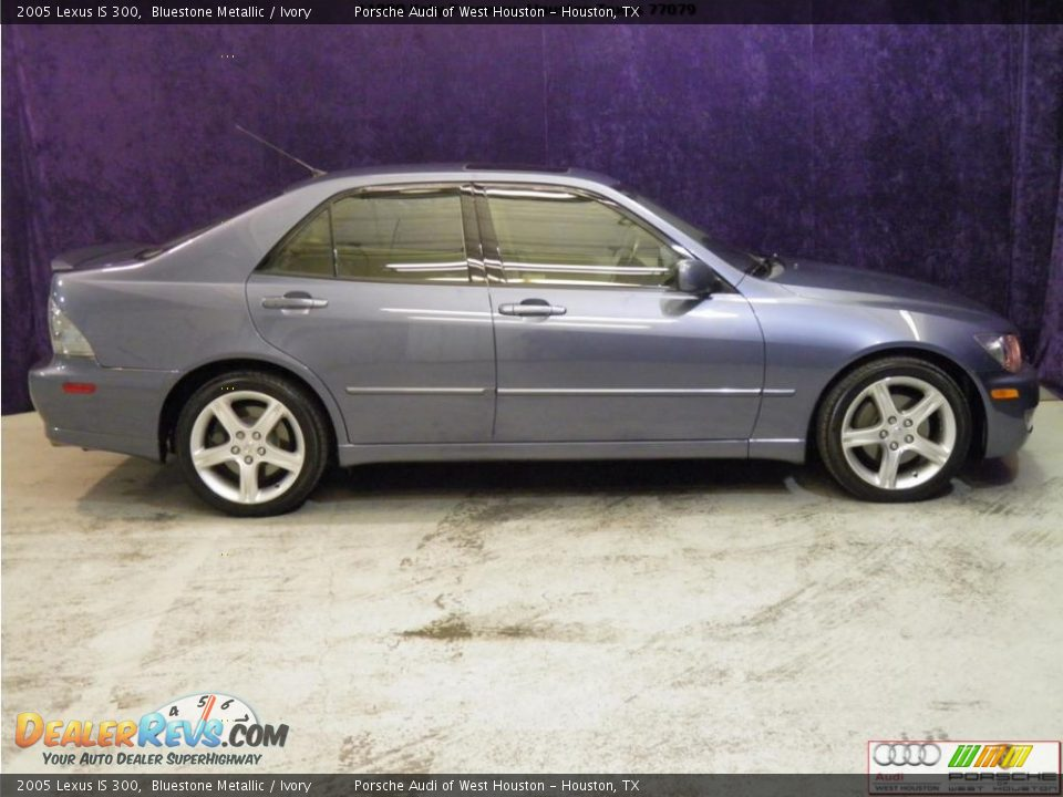 2005 Lexus Is 300 Bluestone Metallic Ivory Photo 6