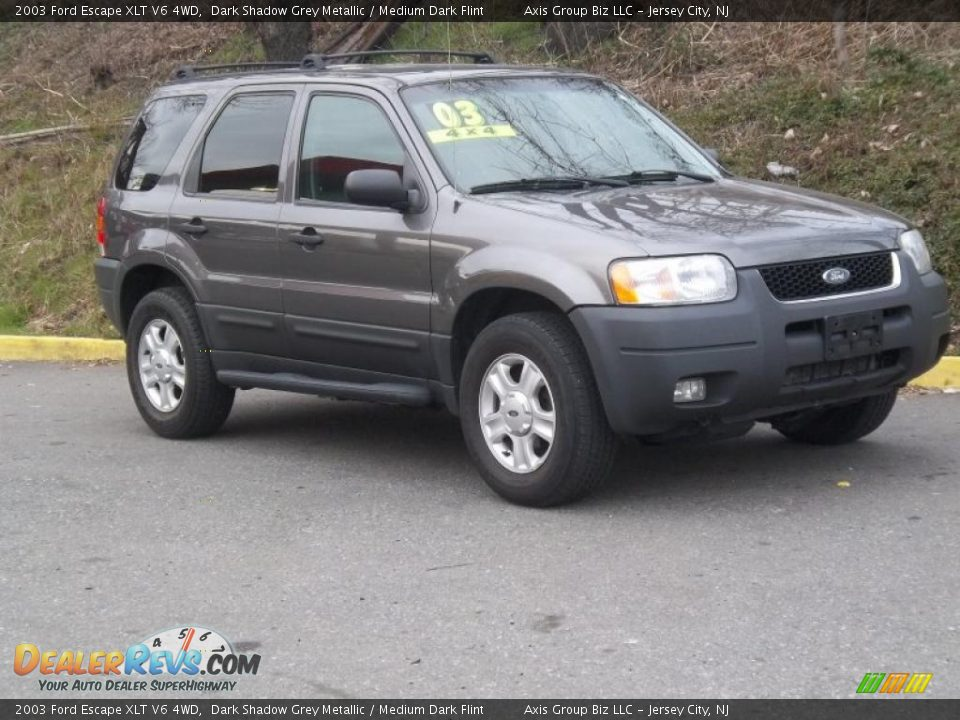 Grey Ford Escape >> 2003 Ford Escape XLT V6 4WD Dark Shadow Grey Metallic / Medium Dark Flint Photo #6 | DealerRevs.com