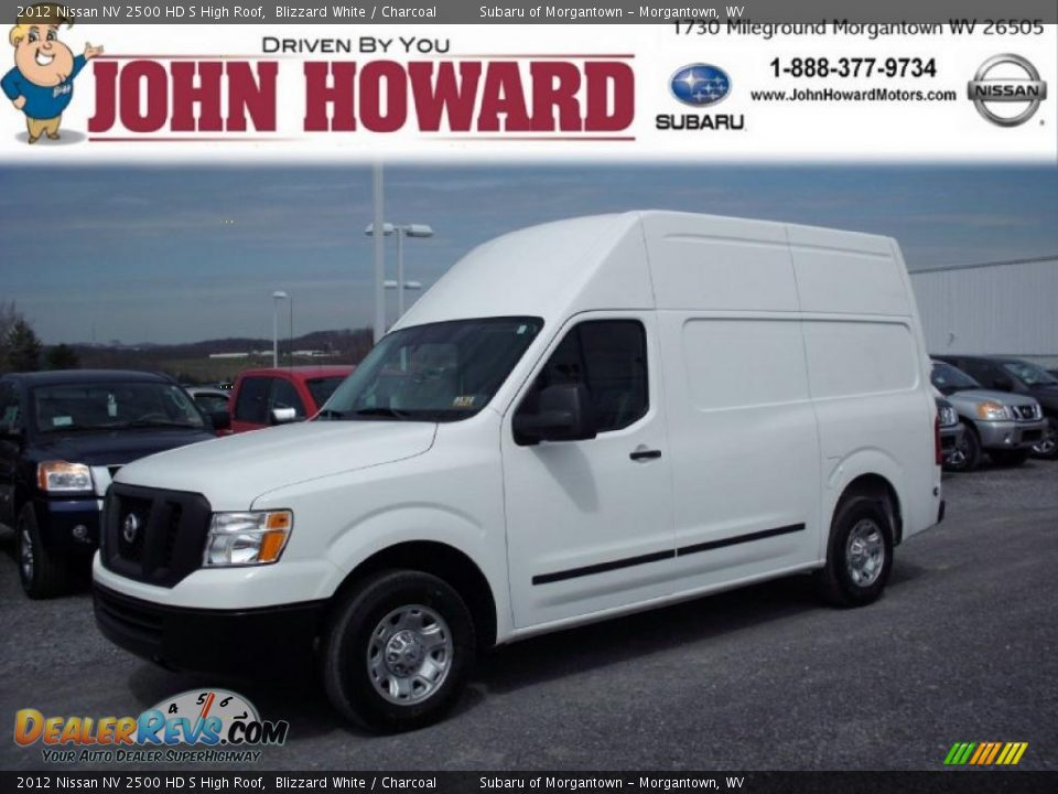 2012 nissan nv 2500 hd s high roof blizzard white charcoal photo 1. Black Bedroom Furniture Sets. Home Design Ideas