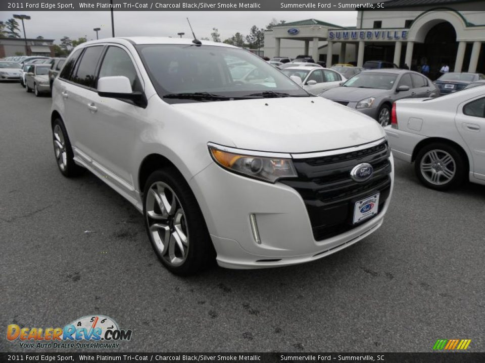 2011 ford edge sport white platinum tri coat charcoal. Black Bedroom Furniture Sets. Home Design Ideas