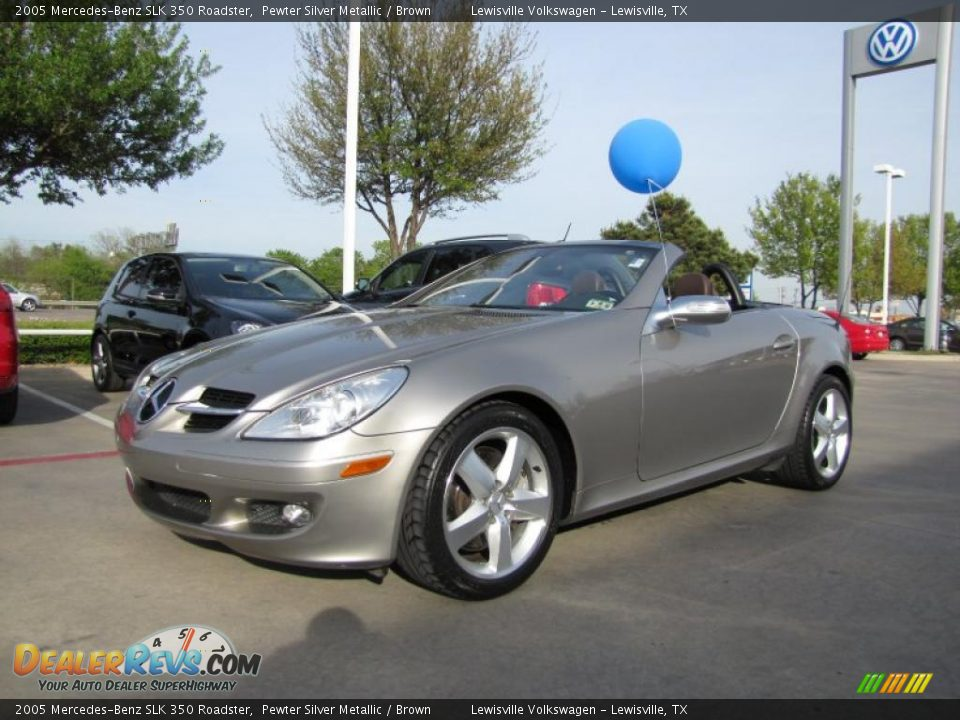 2005 mercedes benz slk 350 roadster pewter silver metallic. Black Bedroom Furniture Sets. Home Design Ideas