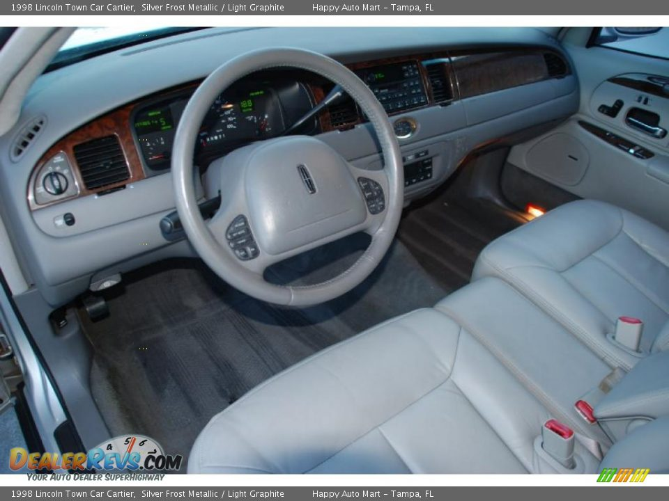 light graphite interior 1998 lincoln town car cartier photo 14. Black Bedroom Furniture Sets. Home Design Ideas
