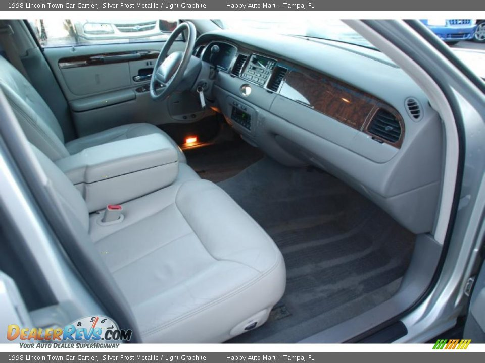 light graphite interior 1998 lincoln town car cartier photo 18. Black Bedroom Furniture Sets. Home Design Ideas