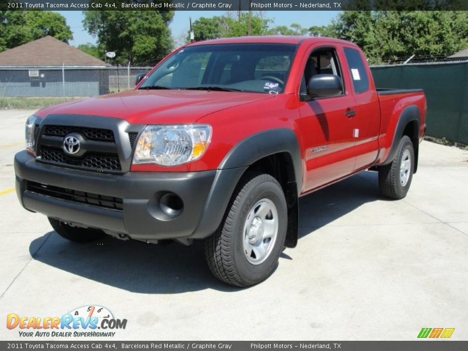 2011 toyota tacoma access cab 4x4 barcelona red metallic graphite gray photo 7. Black Bedroom Furniture Sets. Home Design Ideas