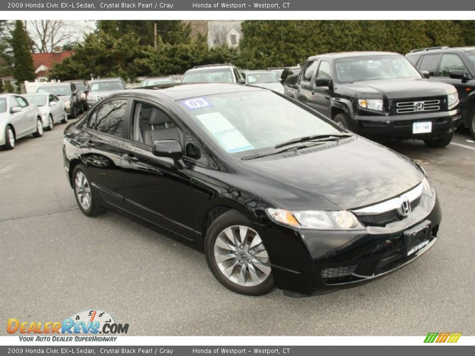 2009 honda civic ex l sedan crystal black pearl gray photo 3. Black Bedroom Furniture Sets. Home Design Ideas