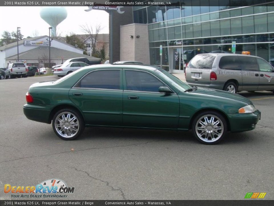 2001 mazda 626 lx freeport green metallic beige photo 1 dealerrevs com dealerrevs com