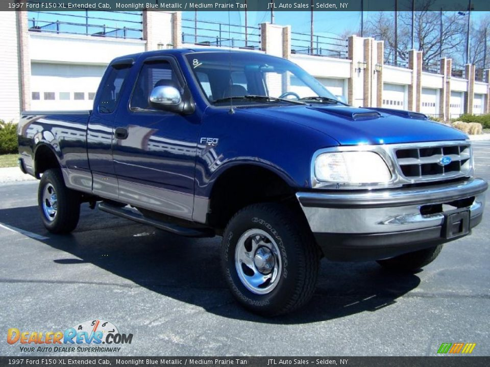 1997 ford f150 xl extended cab moonlight blue metallic medium prairie tan photo 7. Black Bedroom Furniture Sets. Home Design Ideas