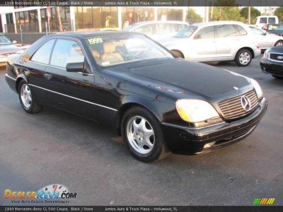 1999 mercedes benz cl 500 coupe black stone photo 1. Black Bedroom Furniture Sets. Home Design Ideas