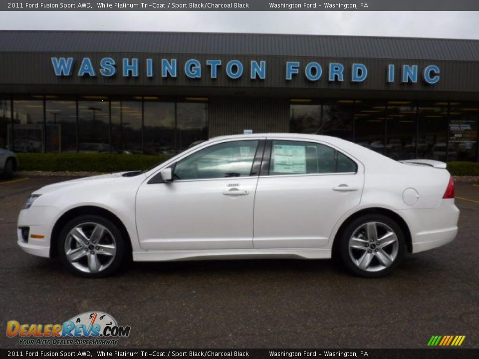 White Ford Fusion Used >> 2011 Ford Fusion Sport AWD White Platinum Tri-Coat / Sport Black/Charcoal Black Photo #1 ...