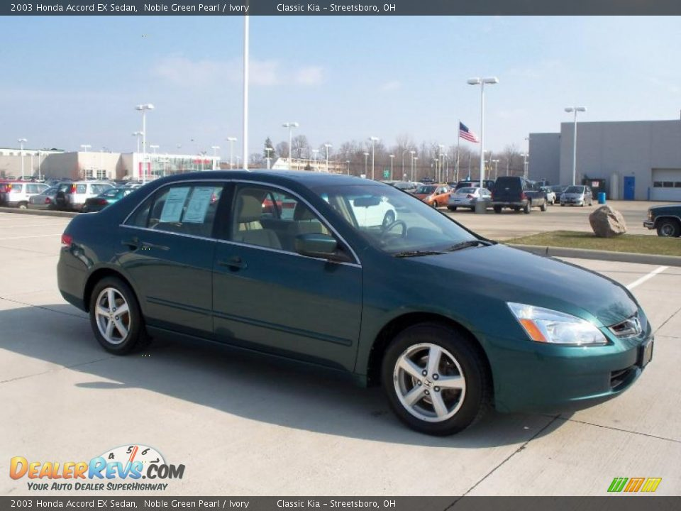 2003 honda accord ex sedan noble green pearl ivory photo for 2003 honda accord ex sedan