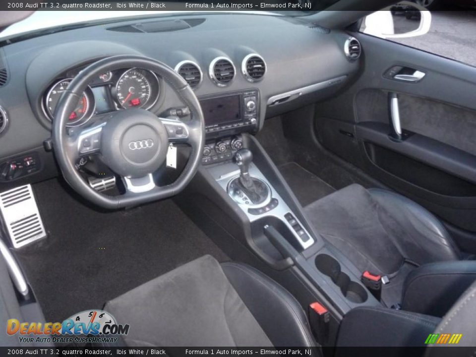 Black Interior 2008 Audi Tt 3 2 Quattro Roadster Photo