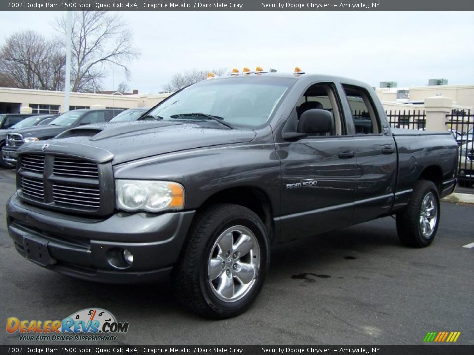 2002 dodge ram 1500 sport quad cab 4x4 graphite metallic dark slate gray photo 1. Black Bedroom Furniture Sets. Home Design Ideas