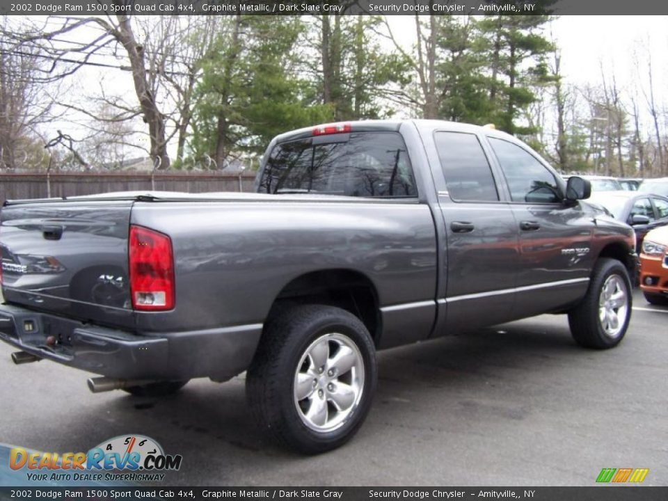 2002 dodge ram 1500 sport quad cab 4x4 graphite metallic dark slate gray photo 2. Black Bedroom Furniture Sets. Home Design Ideas