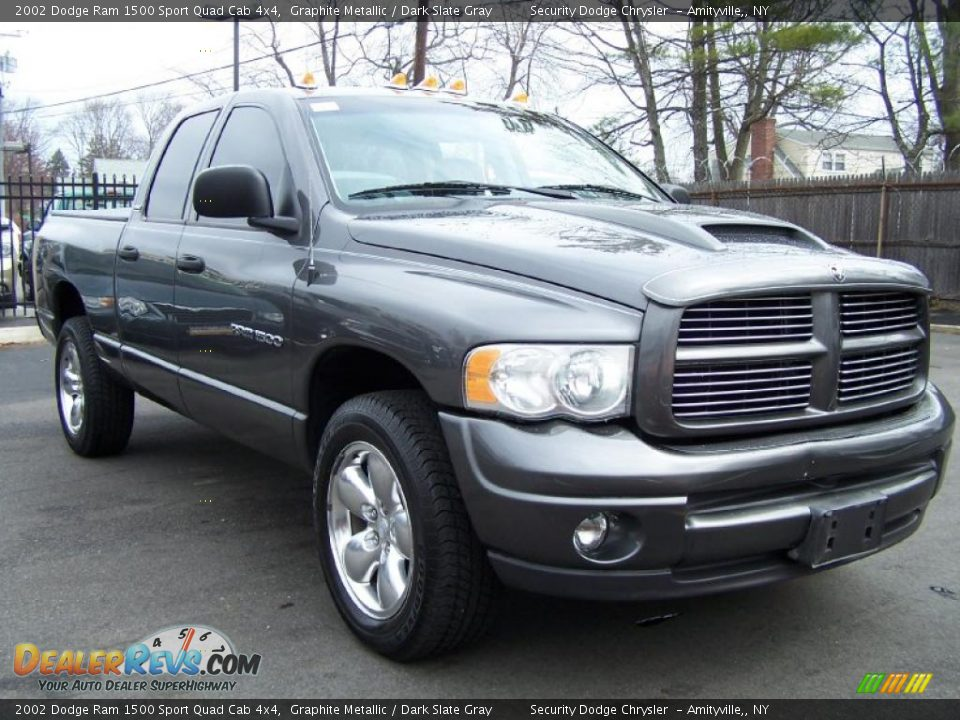 2002 dodge ram 1500 sport quad cab 4x4 graphite metallic dark slate gray photo 3. Black Bedroom Furniture Sets. Home Design Ideas