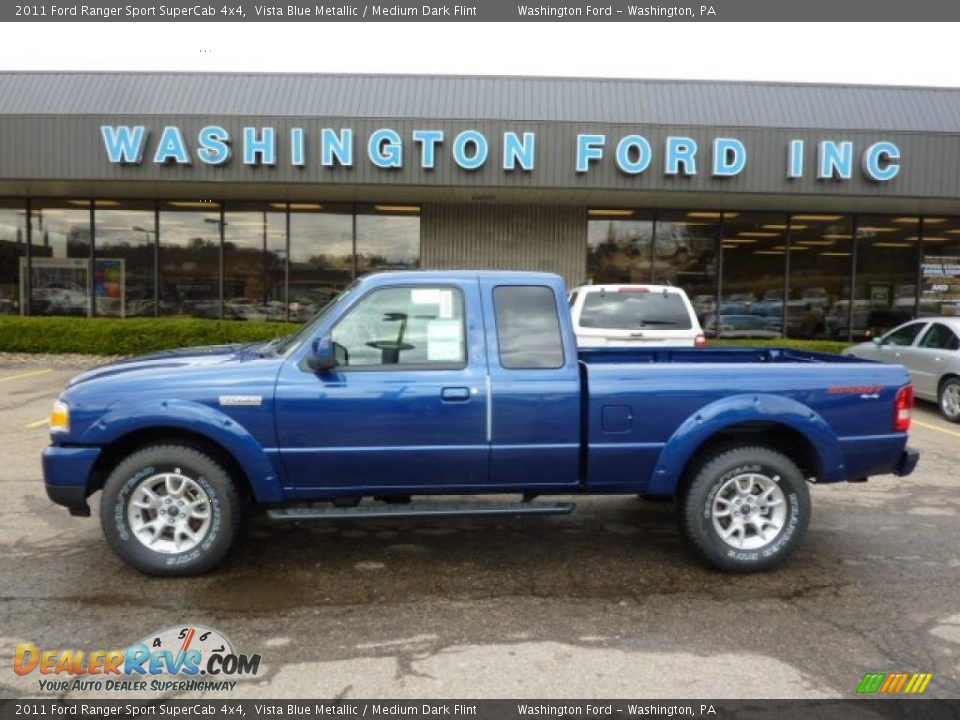 2011 ford ranger sport supercab 4x4 vista blue metallic medium dark flint photo 1. Black Bedroom Furniture Sets. Home Design Ideas