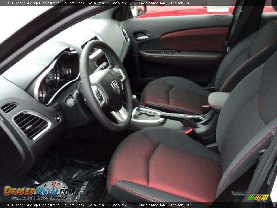 Black Red Interior 2011 Dodge Avenger Mainstreet Photo