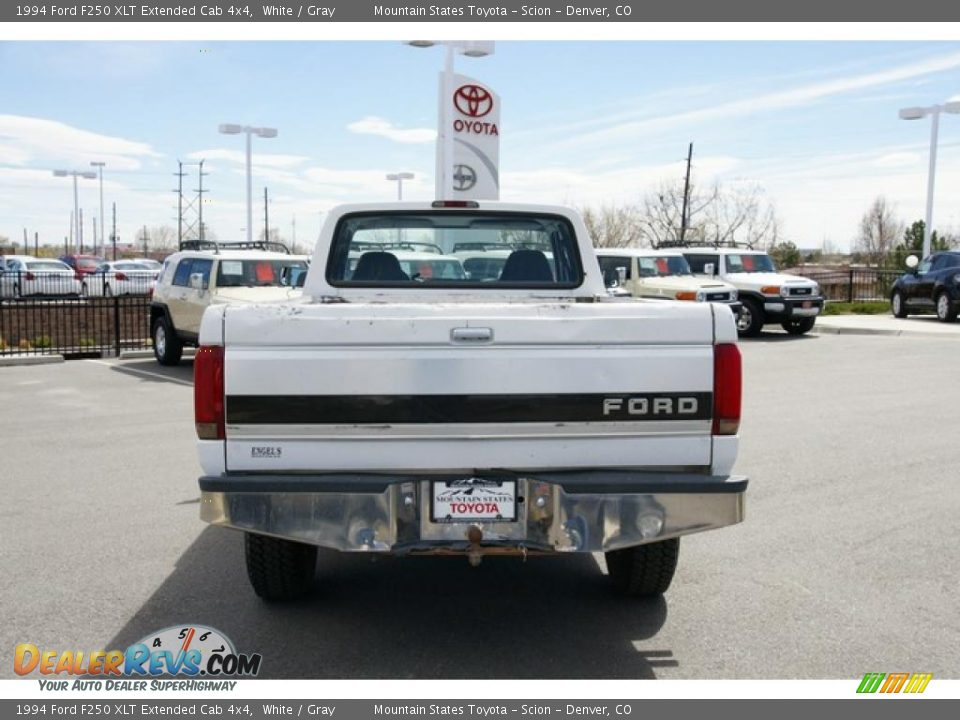 Ford Dealer Locator >> 1994 Ford F250 XLT Extended Cab 4x4 White / Gray Photo #3 ...