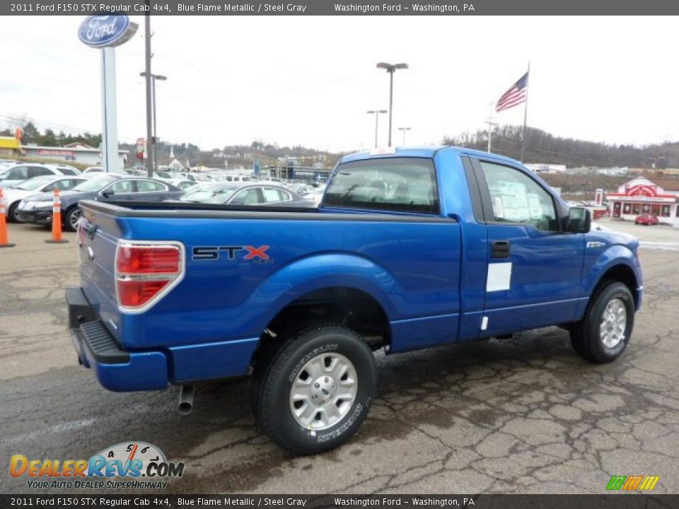 2011 ford f150 stx regular cab 4x4 blue flame metallic steel gray photo 4. Black Bedroom Furniture Sets. Home Design Ideas