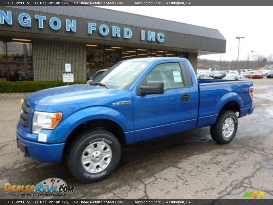 2011 ford f150 stx regular cab 4x4 blue flame metallic steel gray photo 8. Black Bedroom Furniture Sets. Home Design Ideas