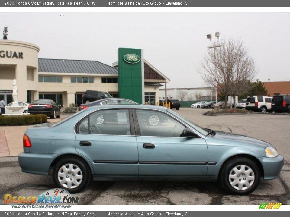 2000 Honda Civic LX Sedan Iced Teal Pearl / Gray Photo #8 ...