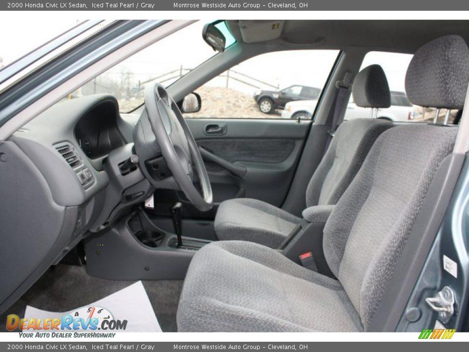 Gray Interior 2000 Honda Civic Lx Sedan Photo 9