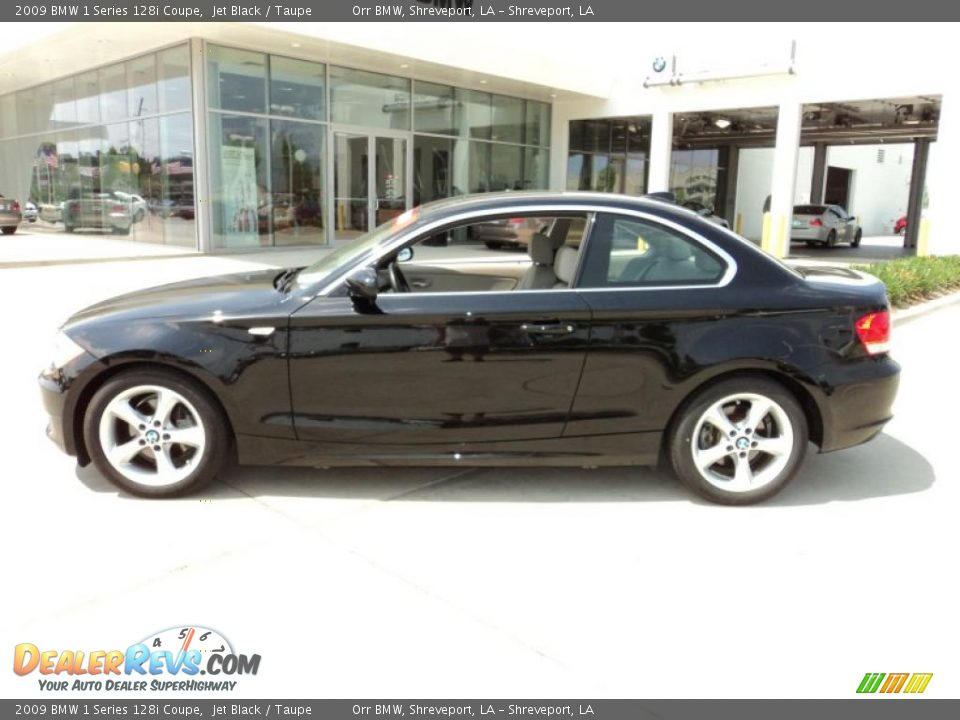 2009 bmw 1 series 128i coupe jet black taupe photo 3 - Black bmw 1 series coupe ...