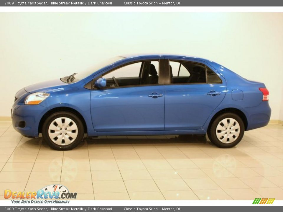 2009 toyota yaris sedan blue streak metallic dark. Black Bedroom Furniture Sets. Home Design Ideas