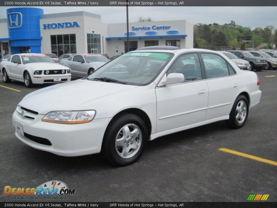 2000 Honda Accord EX V6 Sedan Taffeta White / Ivory Photo ...