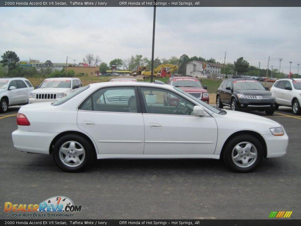 2000 Honda Accord EX V6 Sedan Taffeta White / Ivory Photo #6 ...