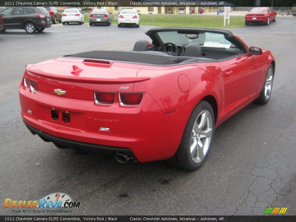 Victory red 2011 chevrolet camaro ss rs convertible photo 6