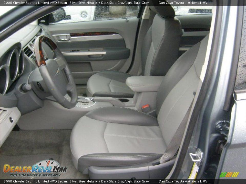 Dark Slate Gray Light Slate Gray Interior 2008 Chrysler Sebring Limited Awd Sedan Photo 11
