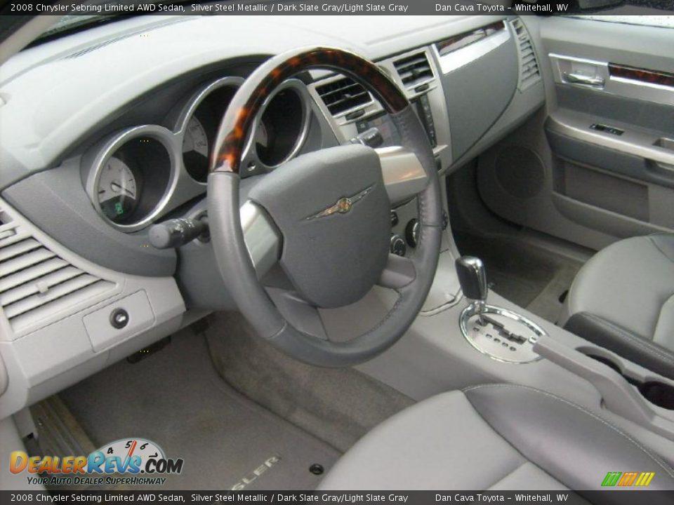 Dark Slate Gray Light Slate Gray Interior 2008 Chrysler Sebring Limited Awd Sedan Photo 12