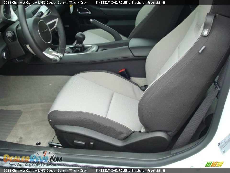 gray interior 2011 chevrolet camaro ss rs coupe photo 3. Black Bedroom Furniture Sets. Home Design Ideas