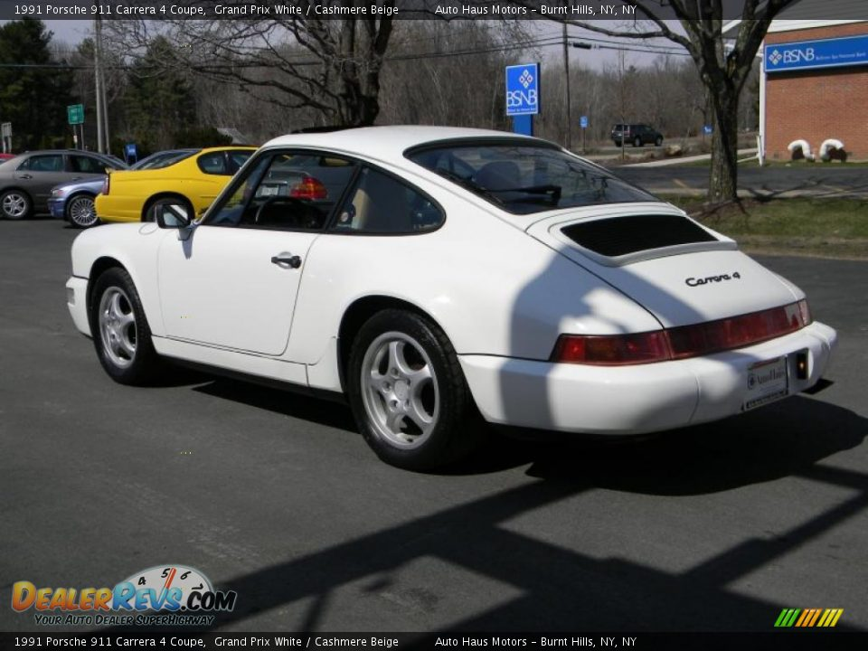 1991 porsche 911 carrera 4 coupe grand prix white cashmere beige photo 7. Black Bedroom Furniture Sets. Home Design Ideas