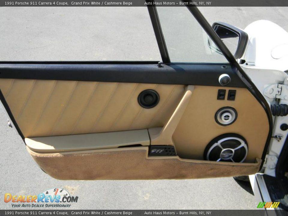 1991 porsche 911 carrera 4 coupe grand prix white cashmere beige photo 14. Black Bedroom Furniture Sets. Home Design Ideas