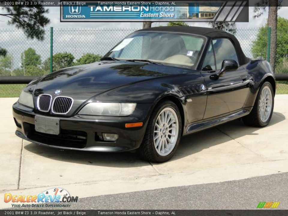 2001 Bmw Z3 3 0i Roadster Jet Black Beige Photo 1