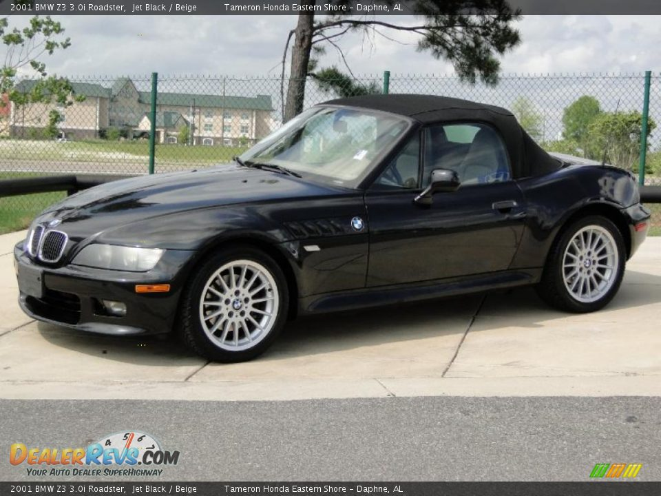 2001 Bmw Z3 3 0i Roadster Jet Black Beige Photo 9