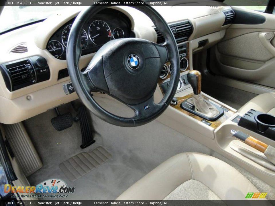 Beige Interior 2001 Bmw Z3 3 0i Roadster Photo 12