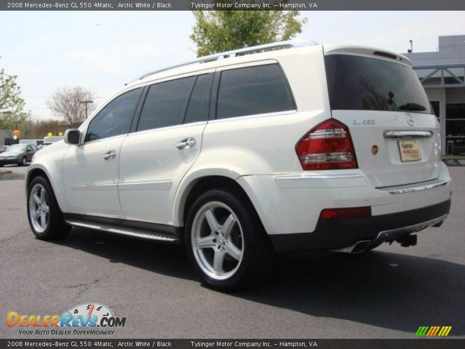 2008 mercedes benz gl 550 4matic arctic white black for Mercedes benz 550 gl