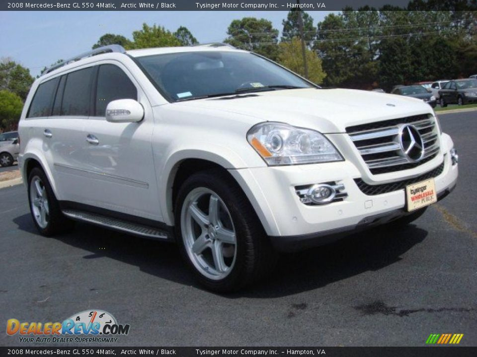 2008 mercedes benz gl 550 4matic arctic white black for 2008 mercedes benz gl450 4matic