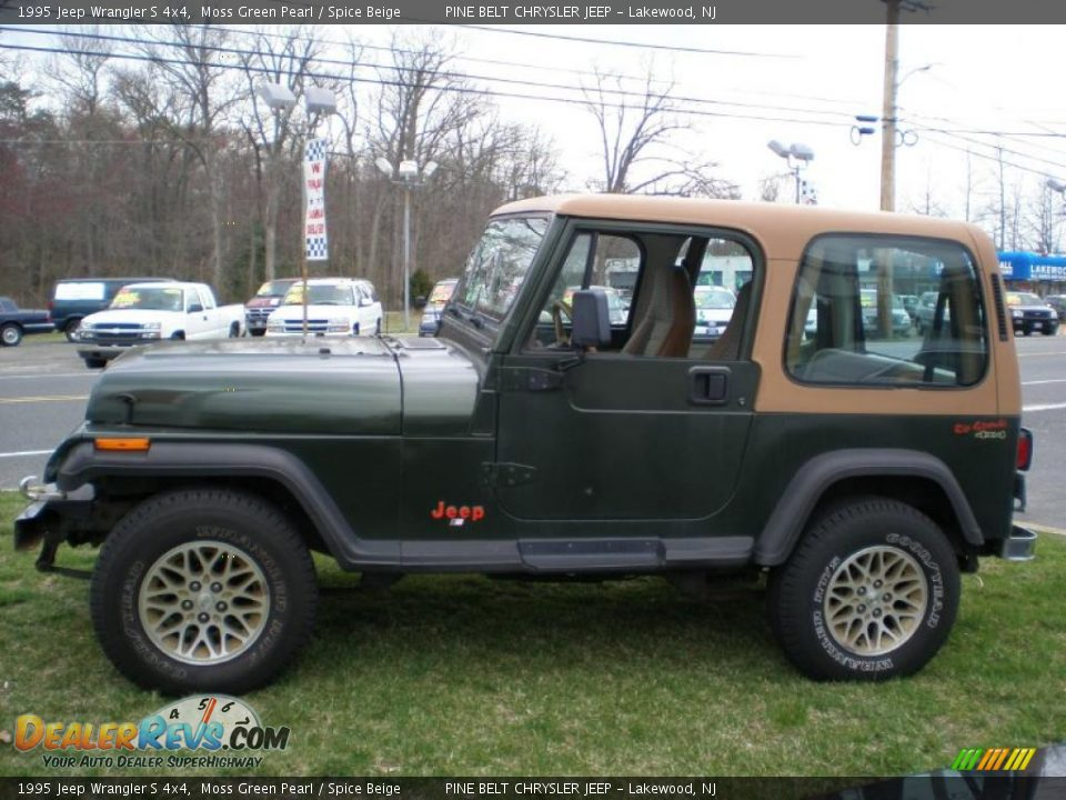 1995 jeep wrangler s 4x4 moss green pearl spice beige. Black Bedroom Furniture Sets. Home Design Ideas