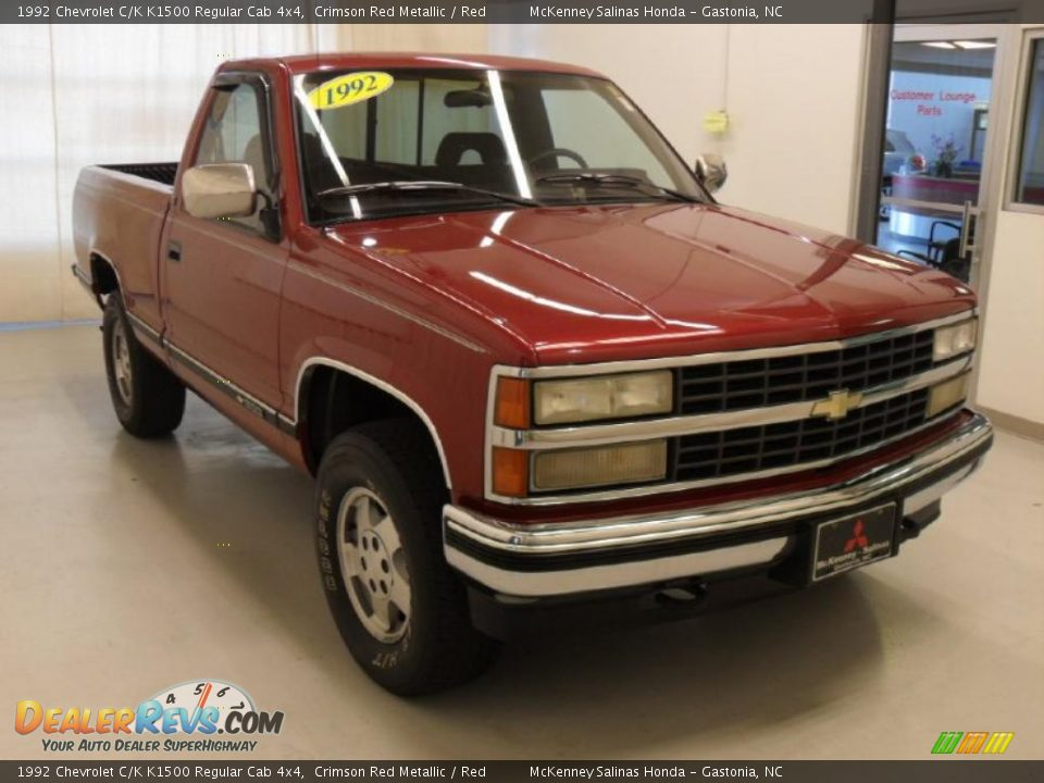 1992 Chevrolet C K K1500 Regular Cab 4x4 Crimson Red