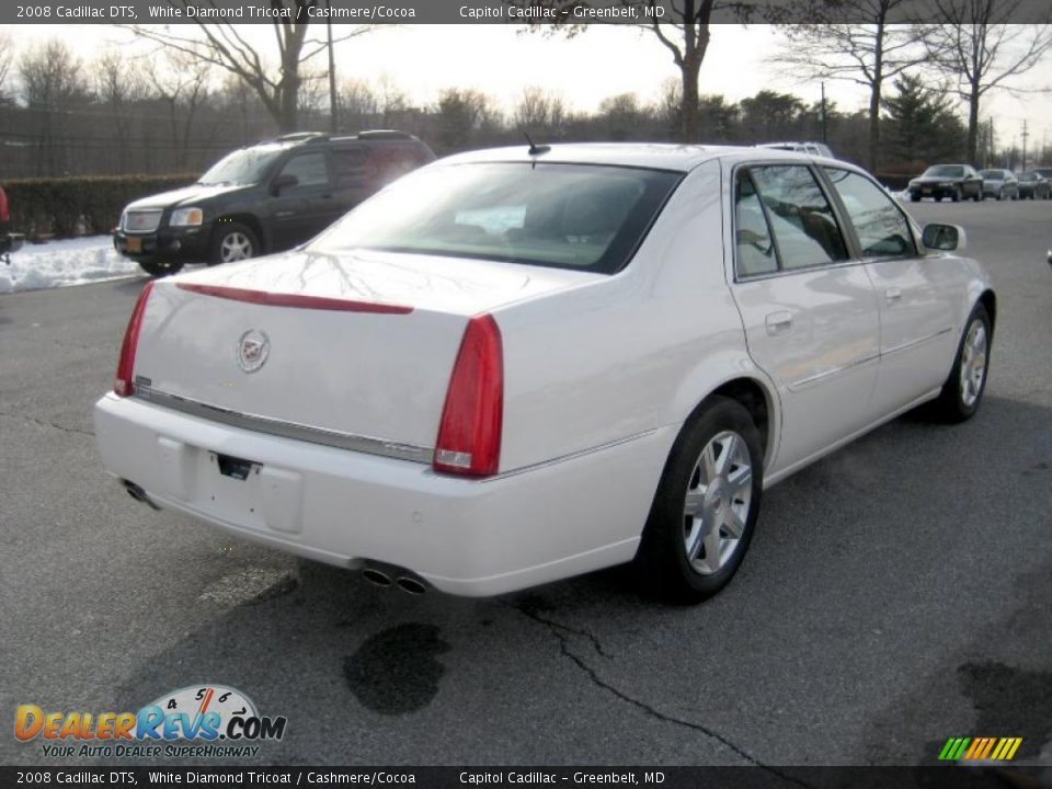2008 Cadillac DTS White Diamond Tricoat / Cashmere/Cocoa ...